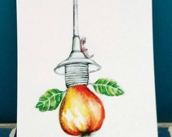 Light bulb (1 postcard)