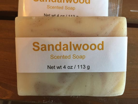 Sandalwood Scented Cold Process Soap with Shea Butter