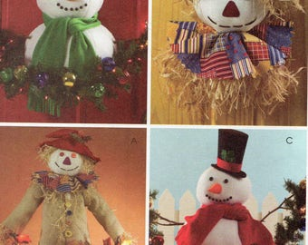 McCall's Crafts Pattern 4943 OUTDOOR CHRISTMAS & HALLOWEEN Decorations