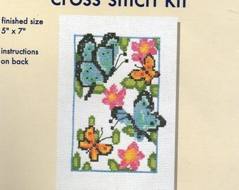 Crafters Square Counted Cross Stitch Kit FLUTTERING BUTTERFLIES