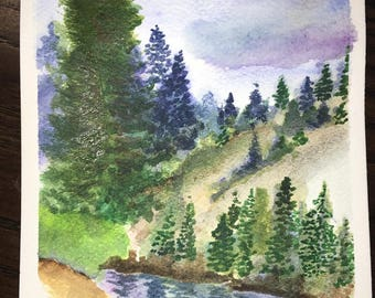 Nature inspired watercolor