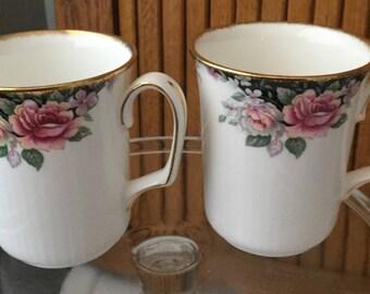 Set of 2 Royal Albert bone china tea/ mugs in Concerto pattern