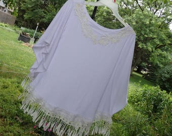 Fringe Tops, FRINGE TUNIC, beach coverups, hippie shirts, Boho Chic tops, Fringe Lace tops, Tribal Sun Top