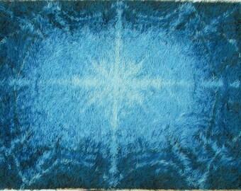 Rya Rug Scandinavian  Mid Century Wool Carpet