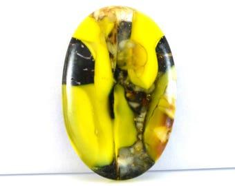 Yellow Submarine Window Handmade Fused Glass Cabochon