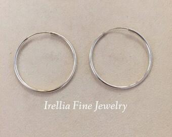 SALE ITEM: Sterling Silver 2mm Endless Hoop Earrings  --Last Ones Ready to Ship--