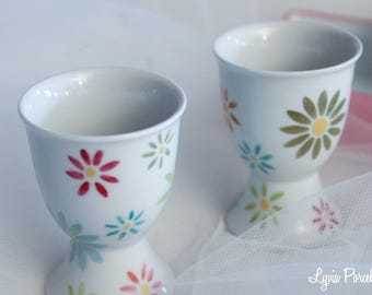 Daisies porcelain egg cups