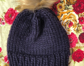 Royal Navy 100% Merino Wool slouchy hat