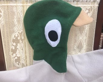 Cozy Fleece Duck Hoodie child size 5 to 10 made to order