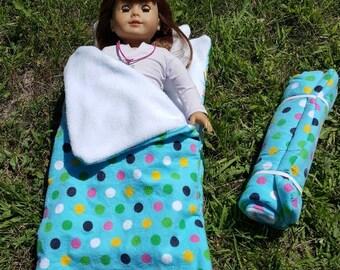 Dot It Up Sleeping Bag For American Girl Doll
