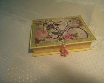 Roses and Butterfly Jewelry Box with Mirror
