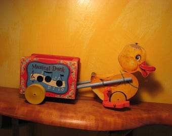Vintage fisher Price Musical Duck