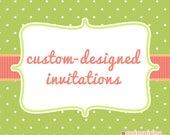 20 Custom Big Foot Invitations and Envelopes