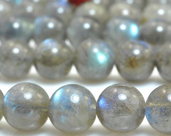 46 pcs of  AA Grade--Natural Labradorite smooth round beads in 8.5mm (06606#)