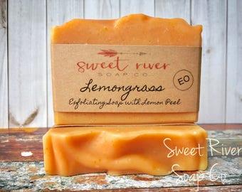 Lemongrass Goats Milk Soap, Farm Soap, Sweet River Farm, Cold Process