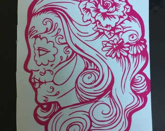 Day of the dead decal, Day of the dead, Dia de los muertos, Decal