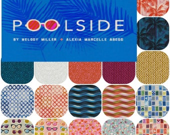 Fat Quarters POOLSIDE By Alexia Abegg  and Melody Miller for Cotton and Steel Fat Quarter Bundle