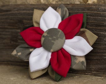 Large Hooah Flower - ARMY Camouflage