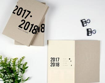 Special Launching Price!Gray Weekly Calendar Black print,Planner,2017-2018Daily Scheduler,planner book,journal,stationary,calendar,daily