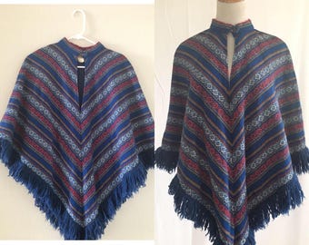 vintage 60's BOBBI BROOKS PONCHO - small, medium