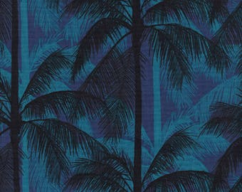 Palms - Blue in CANVAS from Poolside by Melody & Alexia for Cotton + Steel