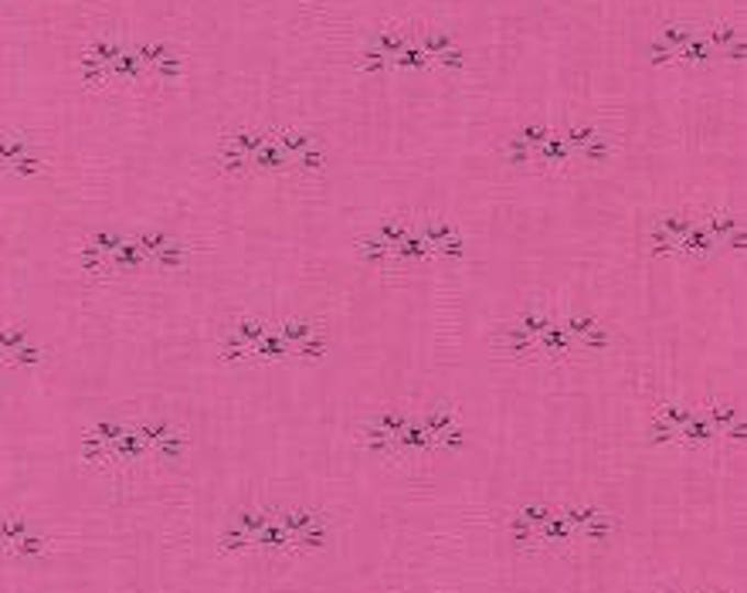 Neko in Purple- Lil' Monsters by Cotton and Steel- Holiday Fabric