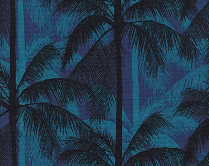 PRESALE: Palms - Blue in CANVAS from Poolside by Melody & Alexia for Cotton + Steel