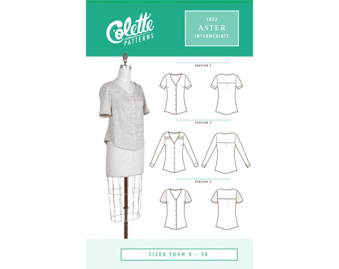 Aster Shirt Pattern by Collette Patterns