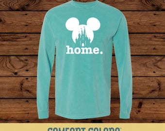 Disney Home - Mickey Mouse Home - Comfort Colors Long Sleeve Tee - T-Shirt - Disney Vacation