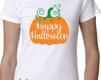 Happy Halloween, Halloween, Halloween shirt, Girls Halloween shirt, Ladies Halloween shirt, Pumpkin, Pumpkin shirt