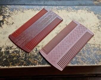 Vintage Soviet Union Collectibles plastic comb, set of 2