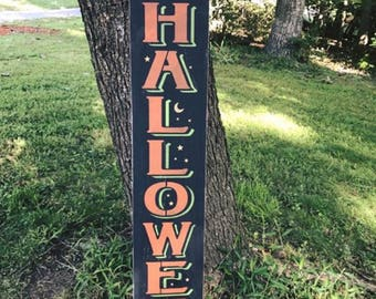 Primitive Halloween Wood Sign