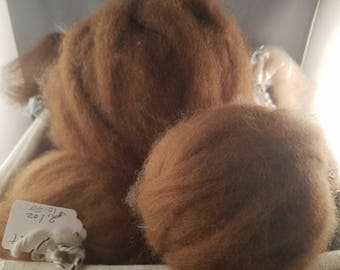Alpaca Roving, Grade 3, sold by the ounce.
