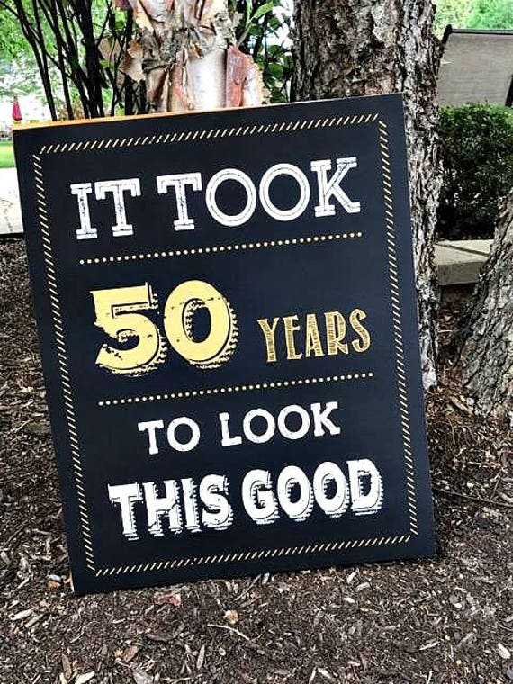 50th birthday decorations printed sign welcome sign for 50th birthday decoration packages