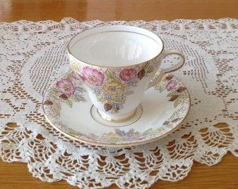 Taylor & Kent English Bone China Teacup and Saucer/Bridal Shower