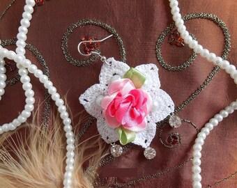 Flower Crochet Earrings
