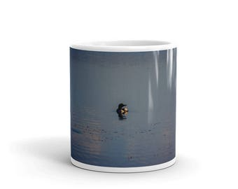 Mug - Red Silo Original Art - Sunset Loon