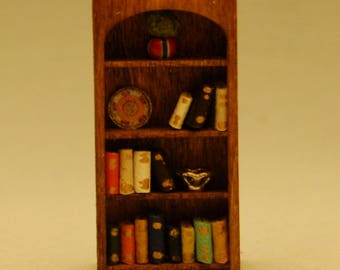 1/4 inch scale miniature-Arched Bookcase