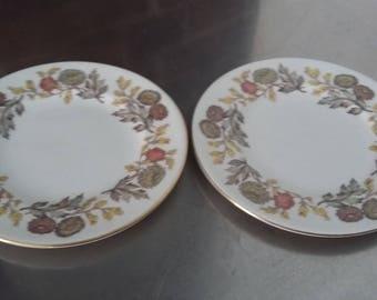 Pair of Wedgwood Lichfield Side Tea Plates 153 mm