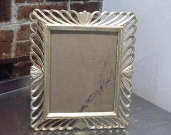 Retro Kitsch  Gilt Gold Silver Frame Glazed Freestanding Photo