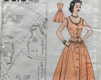 50's Vintage Home Journal 8616 dress sewing pattern B 36