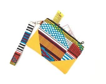 African purse, clutch purse, clutch bag, clutch wristlet, organizer pouch, wristlet clutch, wristlet, zip clutch wallet, zip clutch, Kente