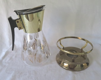 Colony, Golden Wheat, Beverage Carafe with Warming Stand