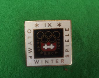 1964 Olympic Badge  Winter Olympics Innsbruck  Olympics X1