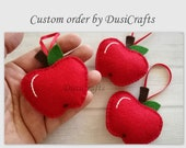 Custom order for Desiree - Apple ornaments