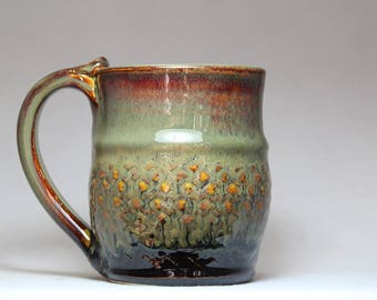 tea cup, 10oz pottery mug, original pottery coffee mug