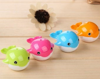 Twin Whale Pencil Sharpener 6.5cm x 5.5cm  Children's Animal Theme Stationery & Artist Tool - Ideal for Visual Arts, Pencils and Drawing