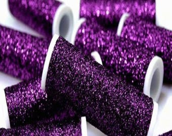 Passionate Purple Metallic Embroidery Thread Spools 60 Metres per Reel - Suitable for Hand Needlework and Embroidery