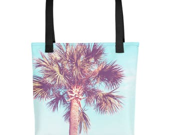Palm Tree Tote bag - Beach and Ocean Photography - Colorful Totes