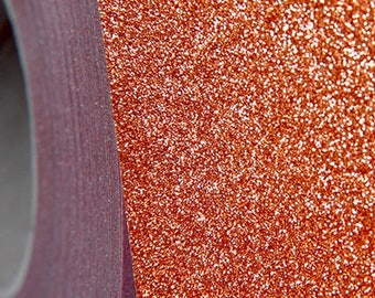 "Glitter Copper 20"" Heat Transfer Vinyl Film By The Yard"